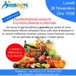Lunedì 20 Novembre, serata gratuita sull'alimentazione!